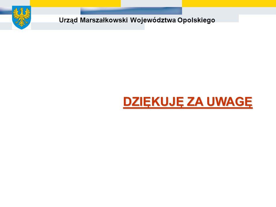 Urząd Marszałkowski Województwa Opolskiego DZIĘKUJĘ ZA UWAGĘ