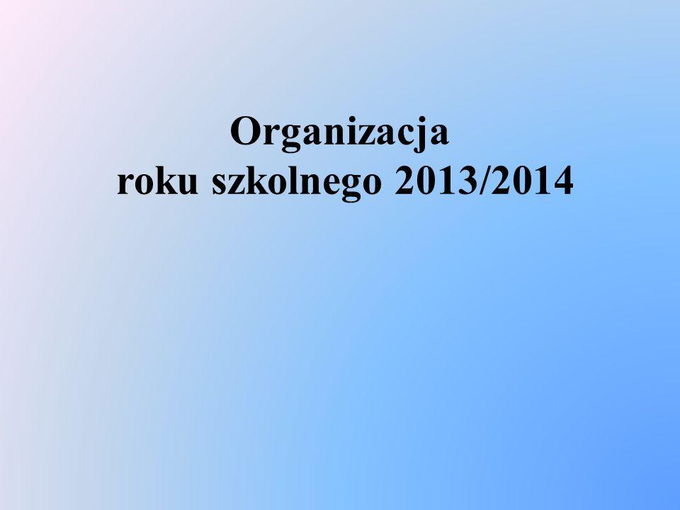 Organizacja roku szkolnego 2013/2014