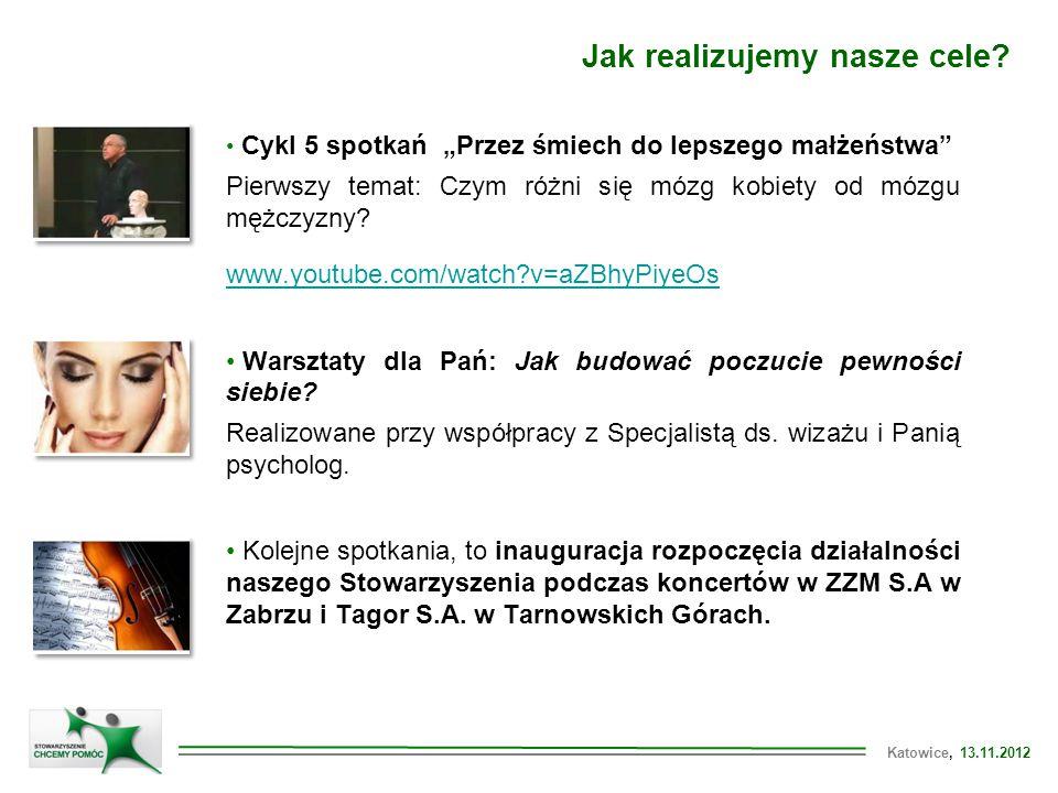 Katowice, 13.11.2012 Jak realizujemy nasze cele.