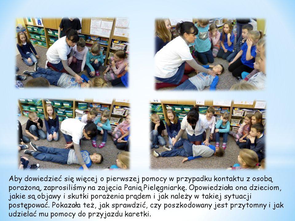 Zdobytą wiedzę uczniowie mogli pod okiem Pani Pielęgniarki sprawdzić w praktyce.