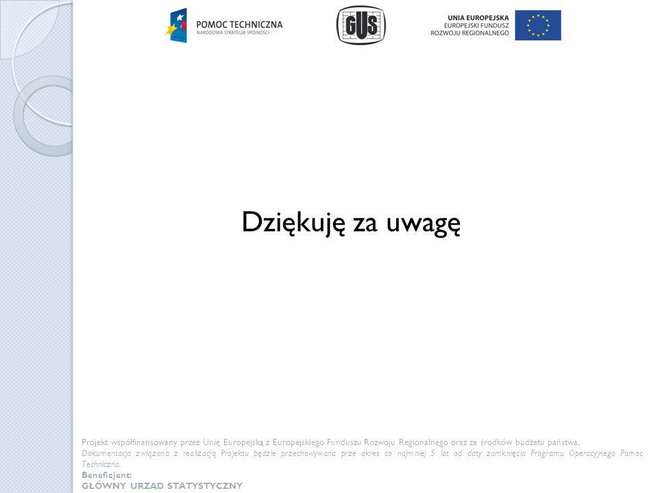 Dziękuję za uwagę Projekt współfinansowany przez Unię Europejską z Europejskiego Funduszu Rozwoju Regionalnego oraz ze środków budżetu państwa. Dokume
