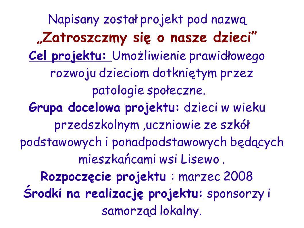 Opis szczegółowy projektu:Projekt został podzielony na poszczególne przedsięwzięcia organizacyjne zwane programami.