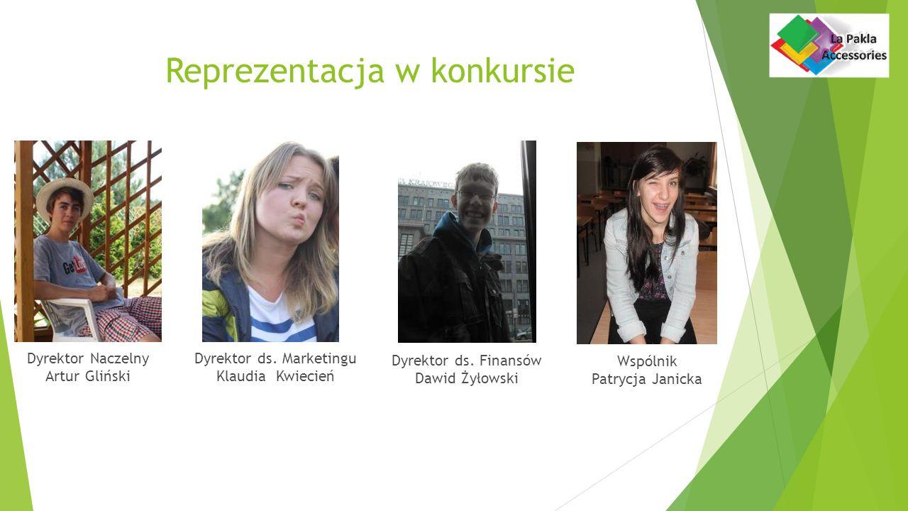 Reprezentacja w konkursie Dyrektor Naczelny Artur Gliński Dyrektor ds.