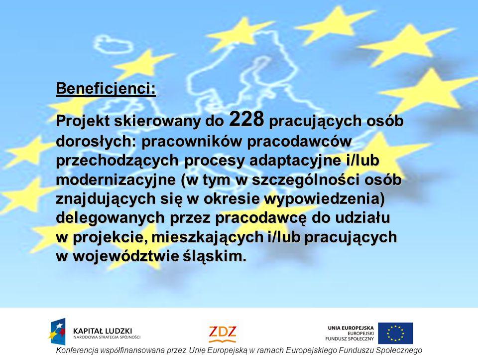 Konferencja wsp ó łfinansowana przez Unię Europejską w ramach Europejskiego Funduszu Społecznego A pozostałe zajęcia.