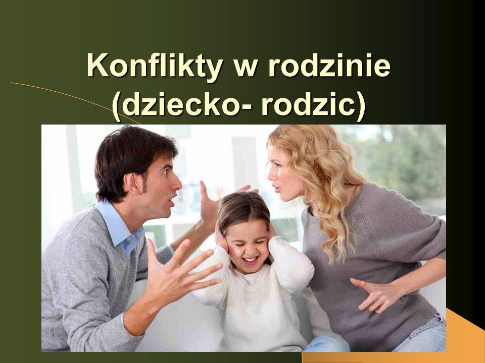 Konflikty w rodzinie (dziecko- rodzic)
