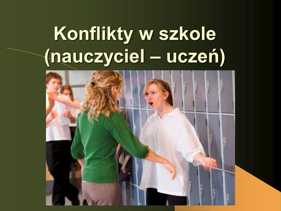 Konflikty w szkole (nauczyciel – uczeń)
