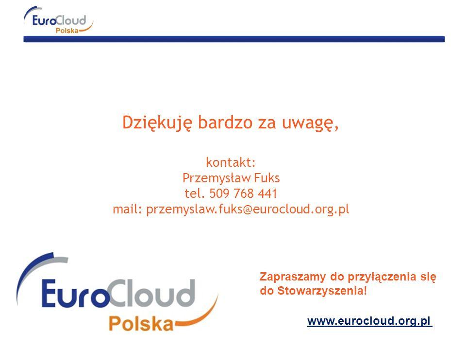 Dziękuję bardzo za uwagę, kontakt: Przemysław Fuks tel.