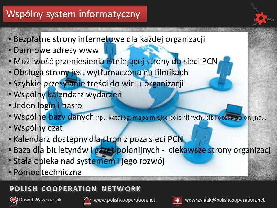 POLISH COOPERATION NETWORK Dlaczego potrzebujemy wspólnego systemu informatycznego.