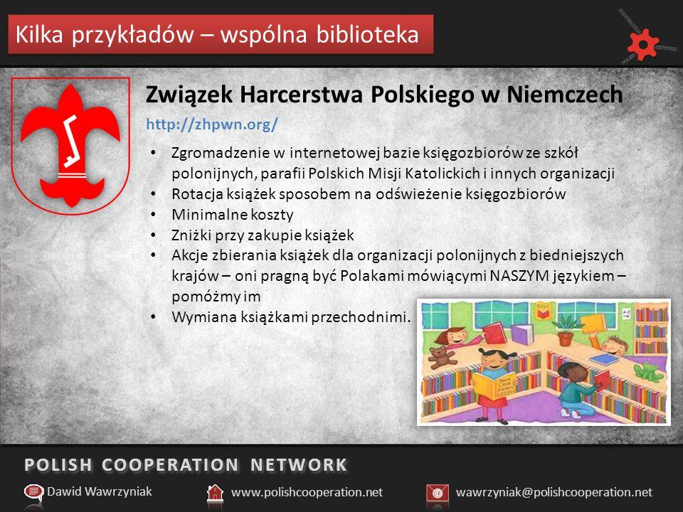 POLISH COOPERATION NETWORK Kilka przykładów – mapa miejsc polonijnych Dawid Wawrzyniak www.polishcooperation.netwawrzyniak@polishcooperation.net http://memoriale.lt Memoriale (Wilno - Litwa) Organizacja powstała by zajmować się renowacją zniszczonych polskich pomników w Wilnie i poza nim.