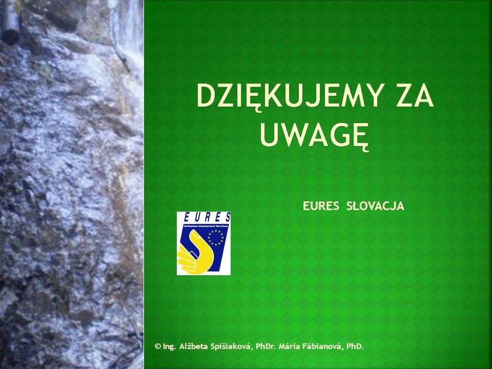 EURES SŁOVACJA © Ing. Alžbeta Spišiaková, PhDr. Mária Fábianová, PhD.