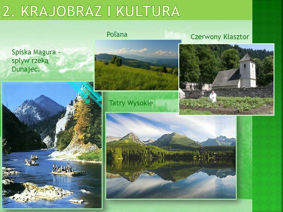 Bielska Jaskinia –jedyna udostępniona jaskinia w Tatrach Wysokich JASKINIE Domica - uważana za jedną z najpiękniejszych jaskiń Dobszyńska Jaskinia Lodowa - największa jaskinia lodowa Demänovska Jaskinia Lodowa i Jaskinia Wolności - najdłuższy system jaskiń