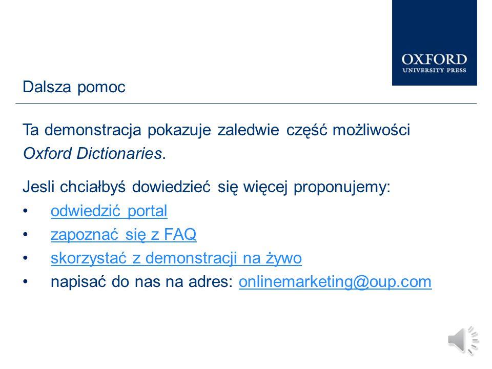 Website: www.oxforddictionaries.com …jak również dzielić się wiadomościami na Twitter'ze, Facebook'u oraz Google+.