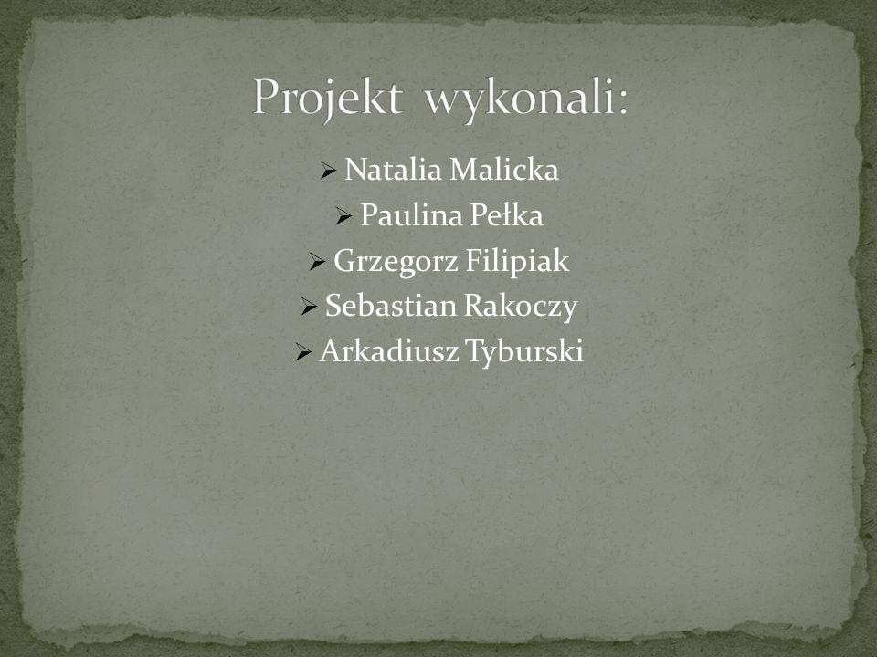  Natalia Malicka  Paulina Pełka  Grzegorz Filipiak  Sebastian Rakoczy  Arkadiusz Tyburski