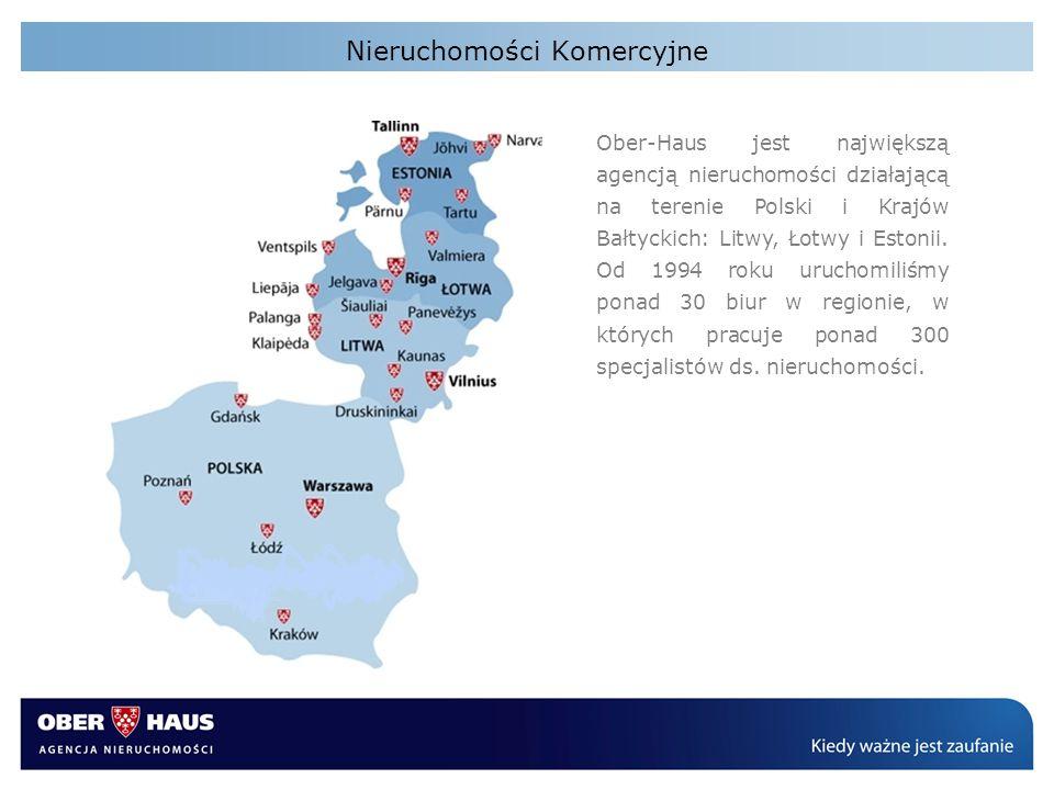 Ober-Haus jest największą agencją nieruchomości działającą na terenie Polski i Krajów Bałtyckich: Litwy, Łotwy i Estonii. Od 1994 roku uruchomiliśmy p