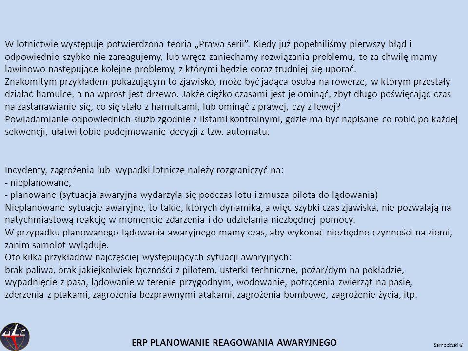 """Sarnoci ń ski ® W lotnictwie występuje potwierdzona teoria """"Prawa serii ."""