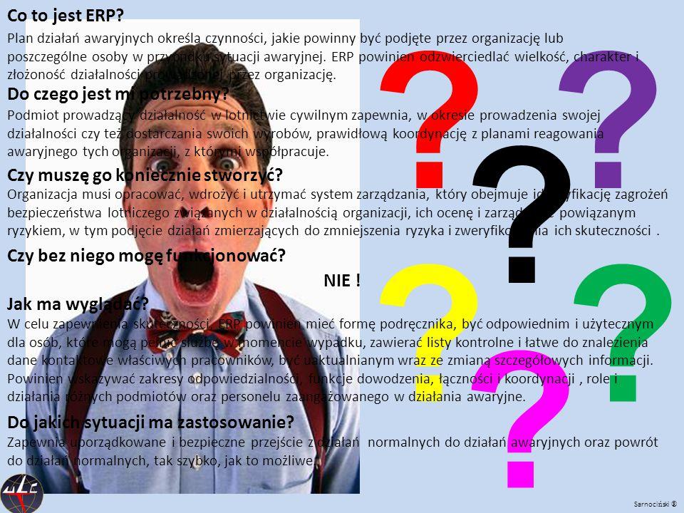 ? ?? ?? ? Co to jest ERP? Plan działań awaryjnych określa czynności, jakie powinny być podjęte przez organizację lub poszczególne osoby w przypadku sy