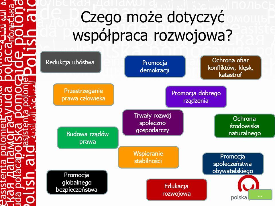 Czego może dotyczyć współpraca rozwojowa.