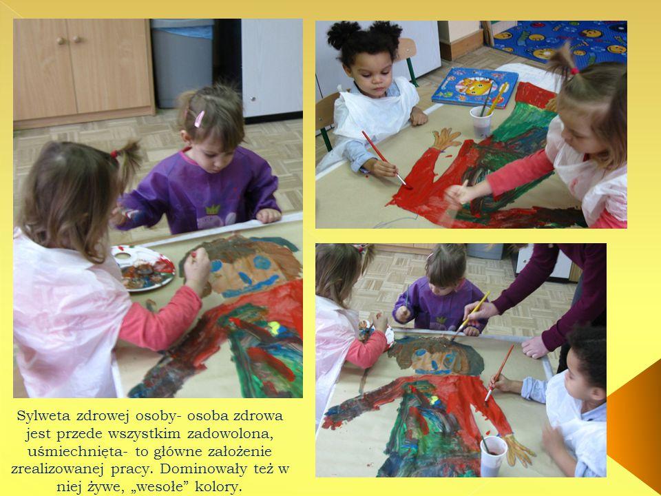 Przedszkolaki rozwiązywały też słowno- obrazkowe zagadki o zdrowiu.