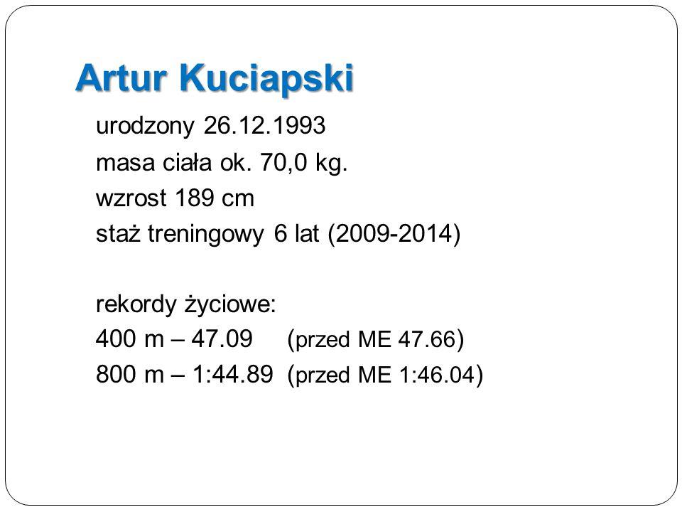 Artur Kuciapski urodzony 26.12.1993 masa ciała ok.