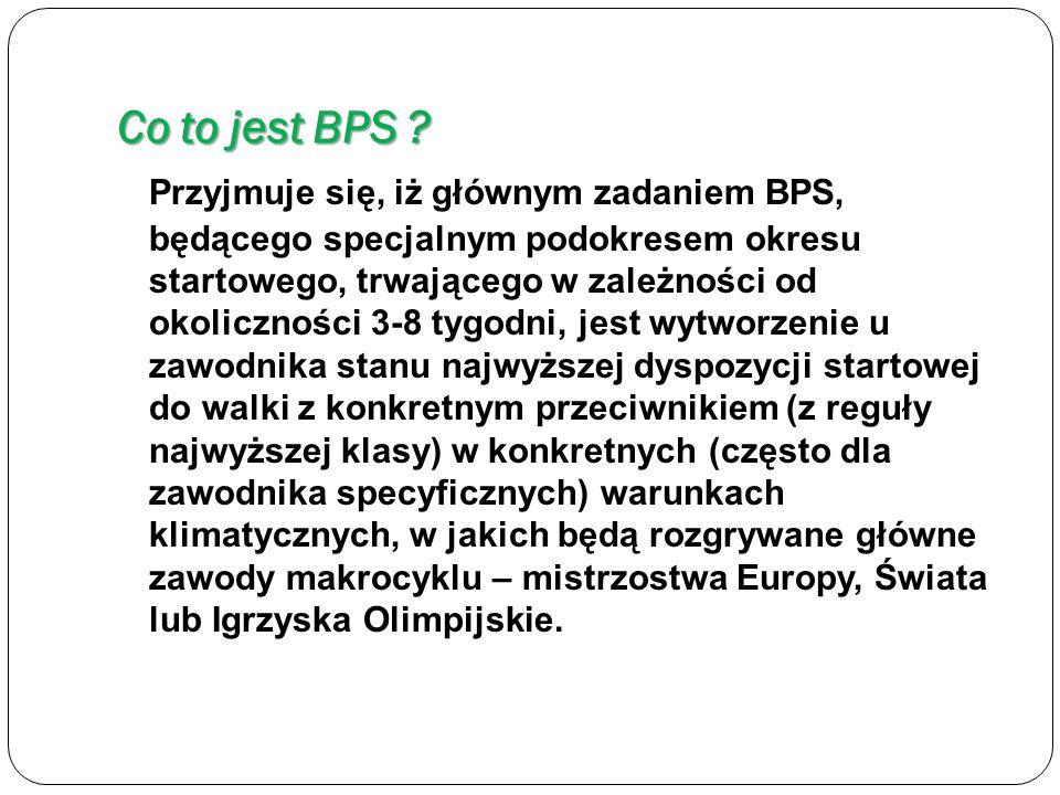 Struktura BPS W tradycyjnym ujęciu w BPS wyróżnia się trzy fazy: * Odbudowy (akumulacji) * Intensyfikacji (intensyfikacji) * Superkompensacji (transformacji)