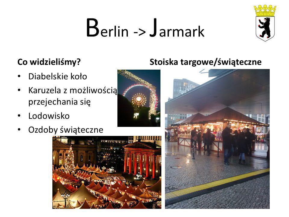 B erlin -> J armark Co widzieliśmy.