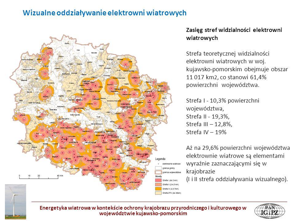 Energetyka wiatrowa w kontekście ochrony krajobrazu przyrodniczego i kulturowego w województwie kujawsko-pomorskim Zasięg stref widzialności elektrown