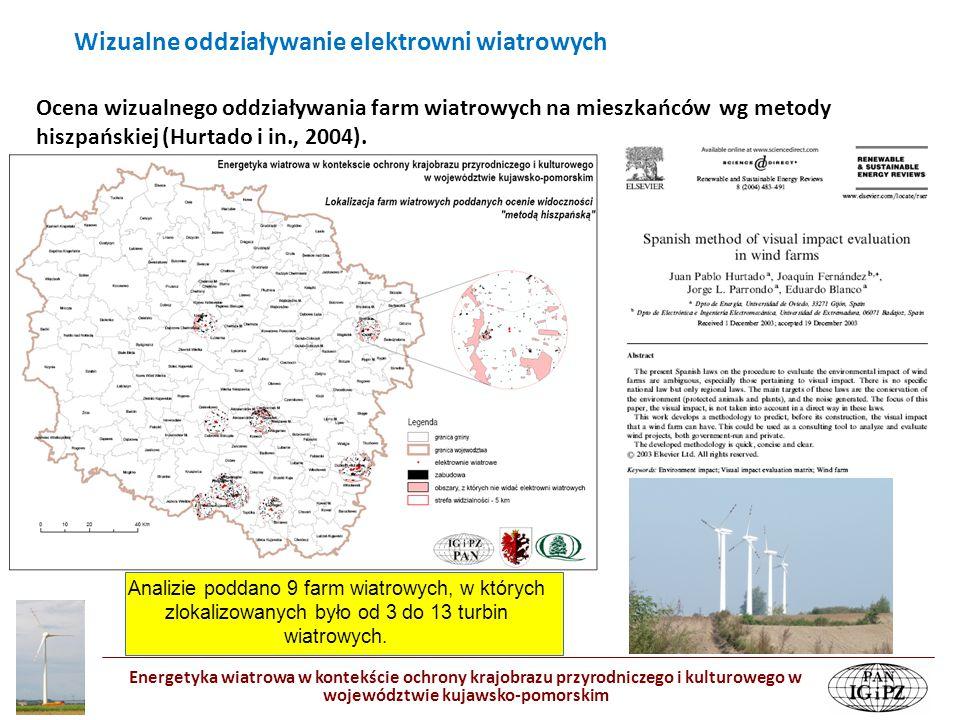 Energetyka wiatrowa w kontekście ochrony krajobrazu przyrodniczego i kulturowego w województwie kujawsko-pomorskim Ocena wizualnego oddziaływania farm