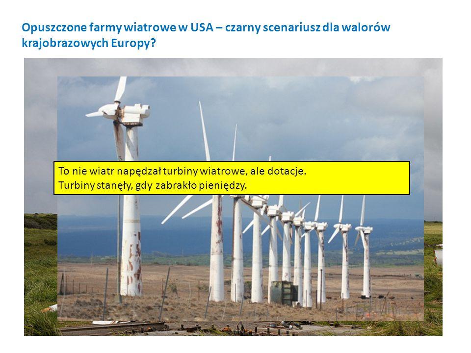 To nie wiatr napędzał turbiny wiatrowe, ale dotacje. Turbiny stanęły, gdy zabrakło pieniędzy. Opuszczone farmy wiatrowe w USA – czarny scenariusz dla