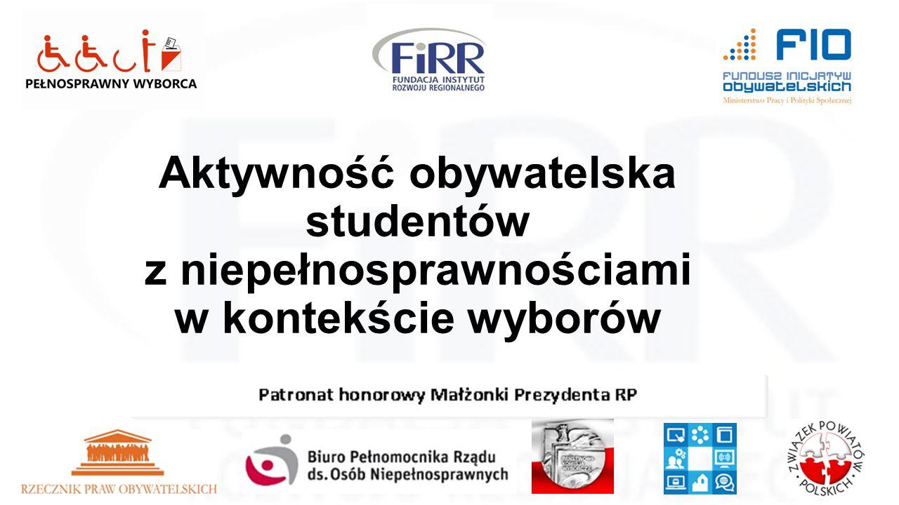 Projekt dofinansowany ze środków Funduszu Inicjatyw Obywatelskich INFORMATOR WYBORCZY INFORMACJE O UPRAWNIENIACH WYBORCZYCH OSÓB STARSZYCH I Z NIEPEŁNOSPRAWNOŚCIAMI