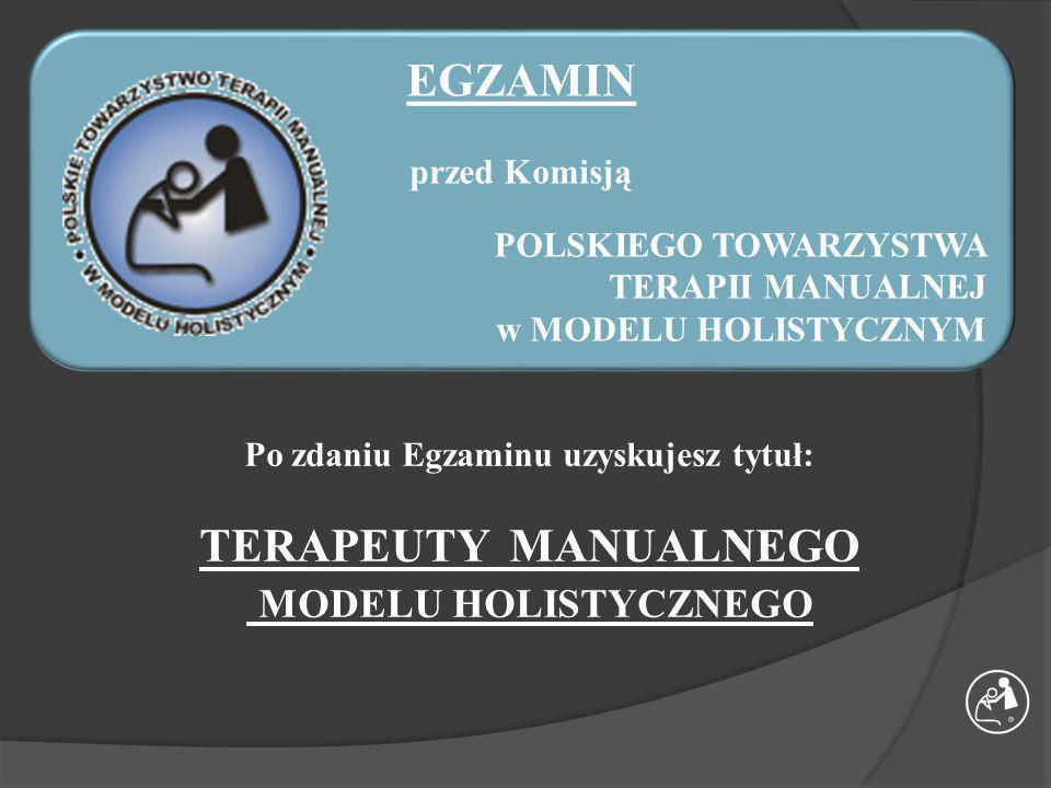 umocowania prawne MOŻLIWOŚCI ROZWOJU W SYSTEMIE TERAPII MANUALNEJ HOLISTYCZNEJ TERAPEUTA MANUALNY MODELU HOLISTYCZNEGO 1-go stopnia kompetencji TERAPEUTA MANUALNY MODELU HOLISTYCZNEGO 2-go stopnia kompetencji NAUCZYCIEL TMH TERAPEUTA MANUALNY MODELU HOLISTYCZNEGO 3-go stopnia kompetencji NAUCZYCIEL DYPLOMOWANY TMH TERAPEUTA MANUALNY MODELU HOLISTYCZNEGO 4-go stopnia kompetencji