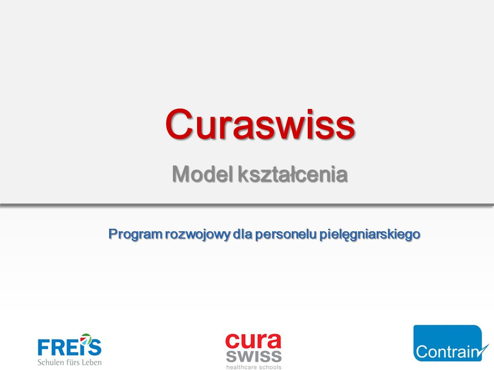 Model kształcenia Curaswiss Program rozwojowy dla personelu pielęgniarskiego