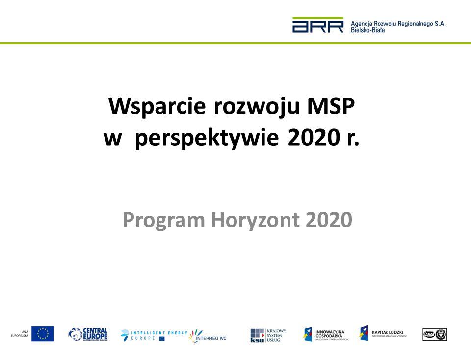 Horyzont 2020 – Szybka ścieżka do innowacji (Fast Track to Innovation) Cel: Wsparcie komercjalizacji najlepszych pomysłów innowacyjnych w dowolnej dziedzinie.