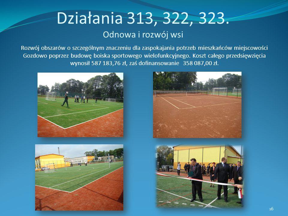 Działania 313, 322, 323. Odnowa i rozwój wsi Rozwój obszarów o szczególnym znaczeniu dla zaspokajania potrzeb mieszkańców miejscowości Gozdowo poprzez