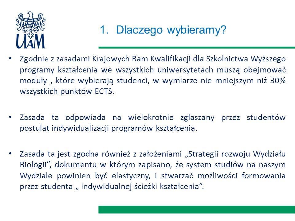 1.Dlaczego wybieramy? Zgodnie z zasadami Krajowych Ram Kwalifikacji dla Szkolnictwa Wyższego programy kształcenia we wszystkich uniwersytetach muszą o