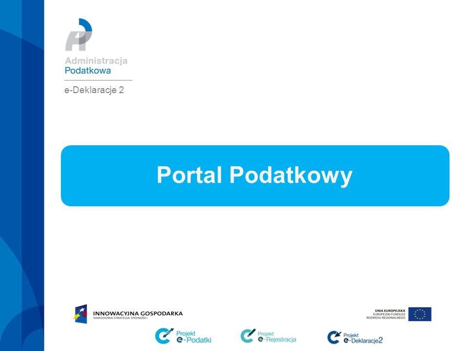 e-Deklaracje 2 2/13 Portal Podatkowy