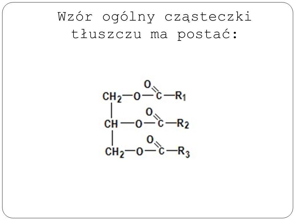 Podział tłuszczów Ze względu na: Pochodzenie: - roślinne, np. oliwa - zwierzęce, np. smalec