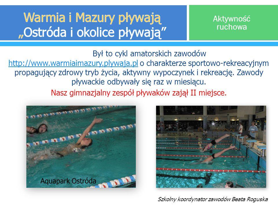 Był to cykl amatorskich zawodów http://www.warmiaimazury.plywaja.pl o charakterze sportowo-rekreacyjnym propagujący zdrowy tryb życia, aktywny wypoczy