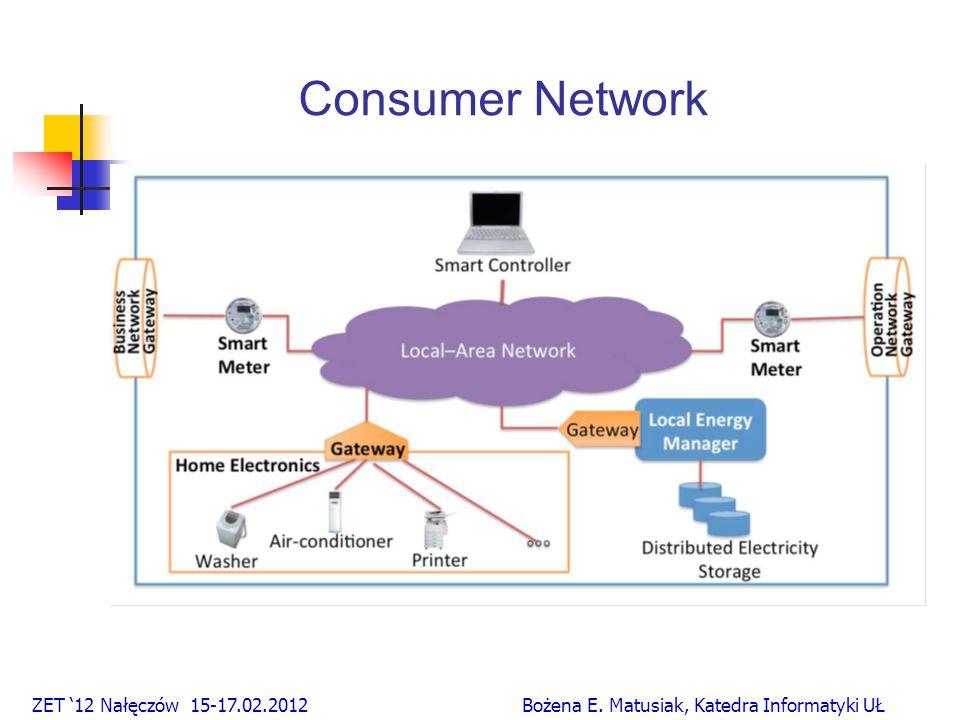 Consumer Network ZET '12 Nałęczów 15-17.02.2012 Bożena E. Matusiak, Katedra Informatyki UŁ