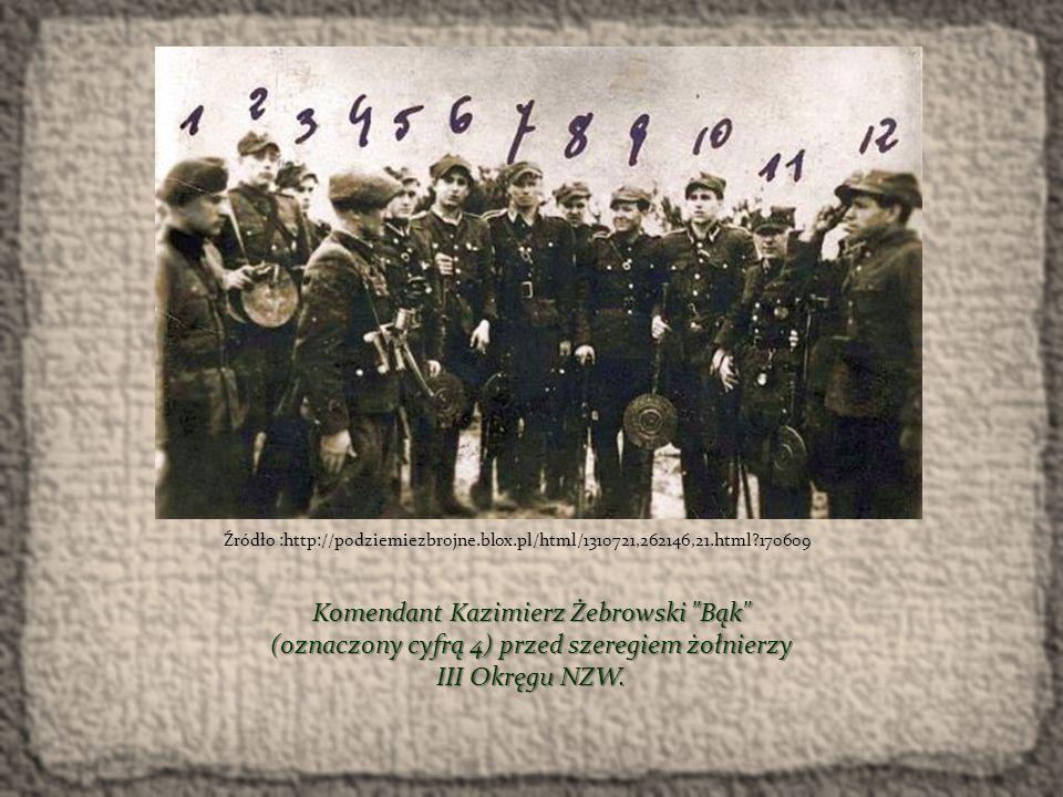 """DZIAŁALNOŚĆ """"BĄKA POD KONIEC WOJNY Latem 1944 r."""