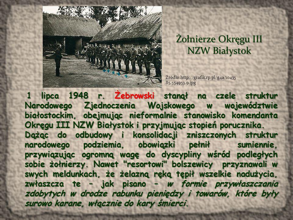 Teren, na którym działał Kazimierz Żebrowski został w sposób wręcz niewiarygodny nasiąknięty konfidentami UB. Bąka rozpracowywali agenci i informatorzy o kryptonimach: Szczery , Przybył , Kaczka , Kanarek , Zgroza , Staszek , Szpak , Gruchacz czy Złoczyńca .