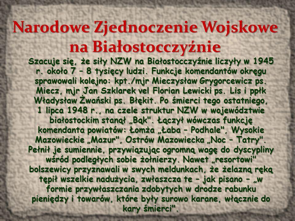 Narodowe Zjednoczenie Wojskowe Narodowe Zjednoczenie Wojskowe (NZW) – polska konspiracyjna organizacja wojskowo-polityczna o charakterze narodowym działająca w latach 1944/1945- 1956.