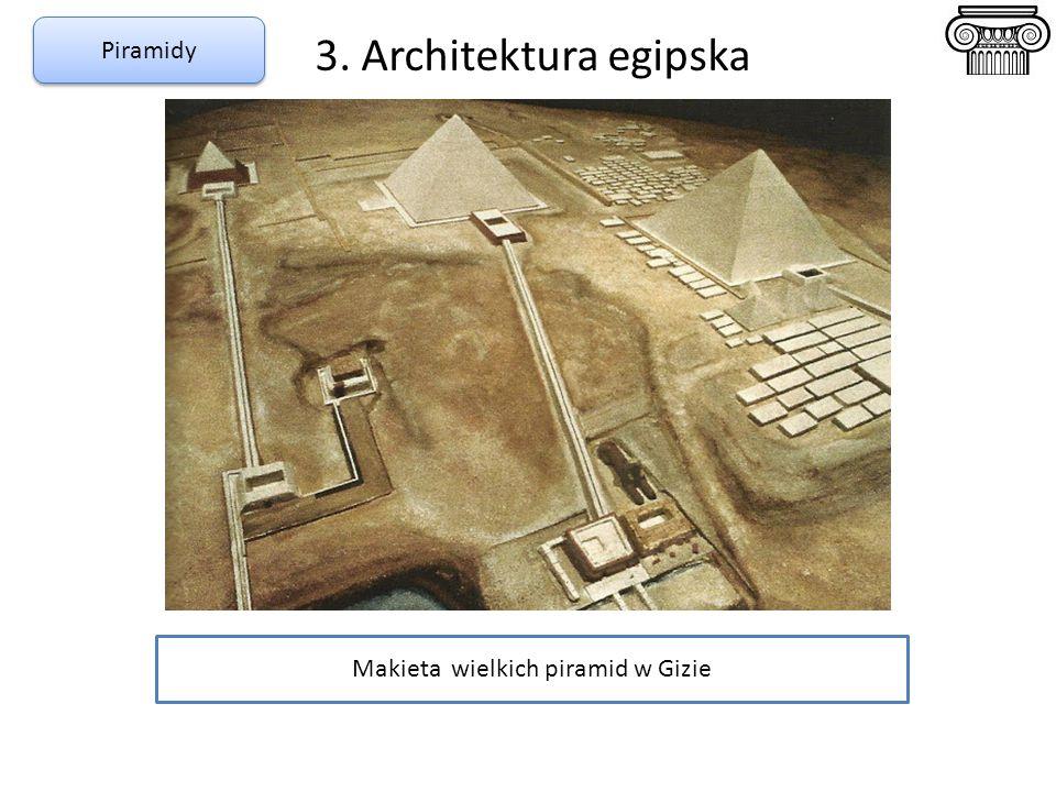 3. Architektura egipska Piramidy Makieta wielkich piramid w Gizie