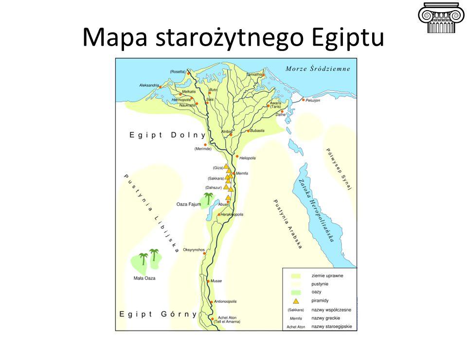 Mapa starożytnego Egiptu