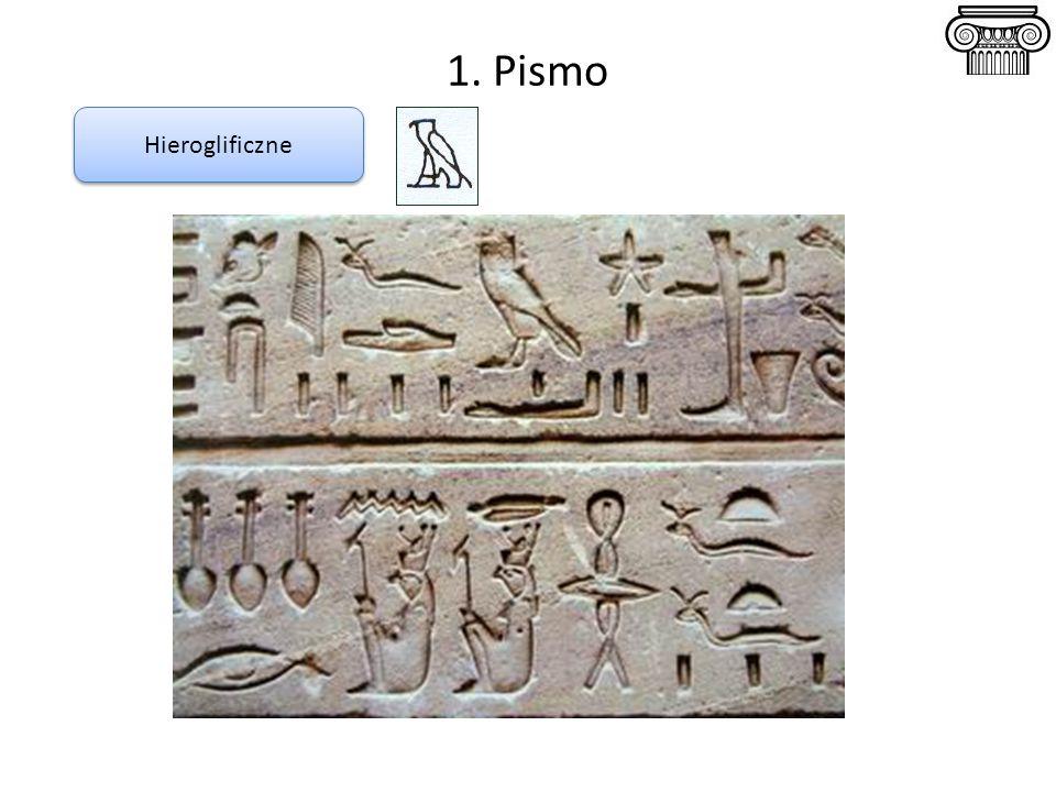 1. Pismo Hieroglificzne