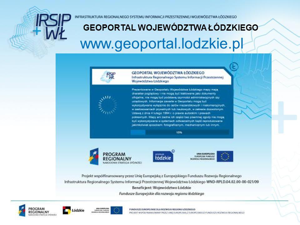 www.geoportal.lodzkie.pl GEOPORTAL WOJEWÓDZTWA ŁÓDZKIEGO