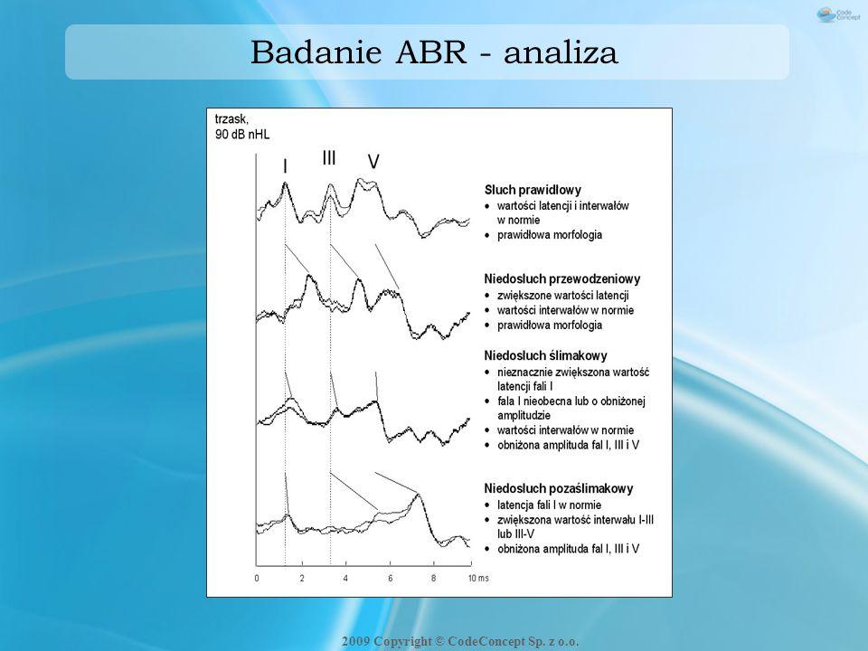Badanie ABR - analiza 2009 Copyright © CodeConcept Sp. z o.o.