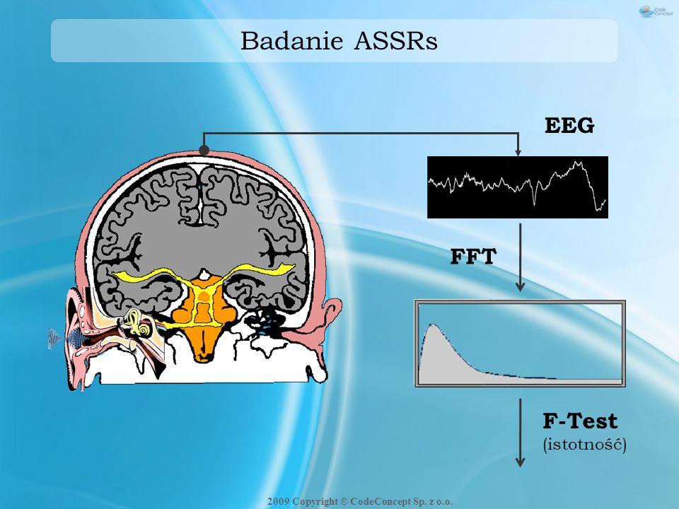 Badanie ASSRs FFT EEG F-Test (istotność) 2009 Copyright © CodeConcept Sp. z o.o.