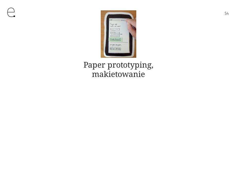54 Paper prototyping, makietowanie