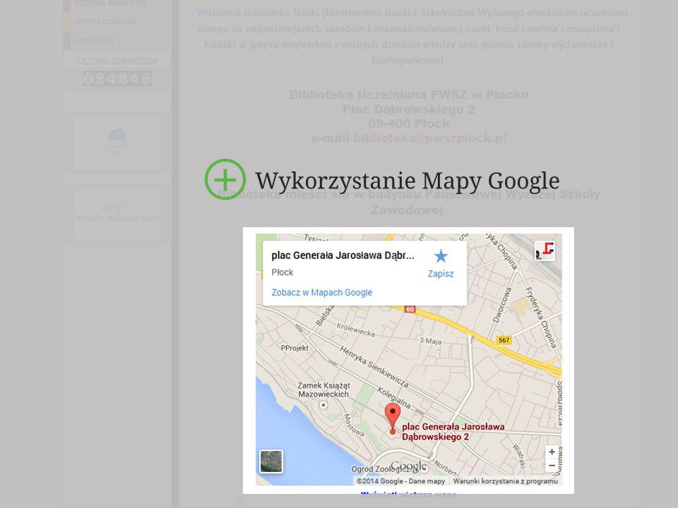 74 Wykorzystanie Mapy Google