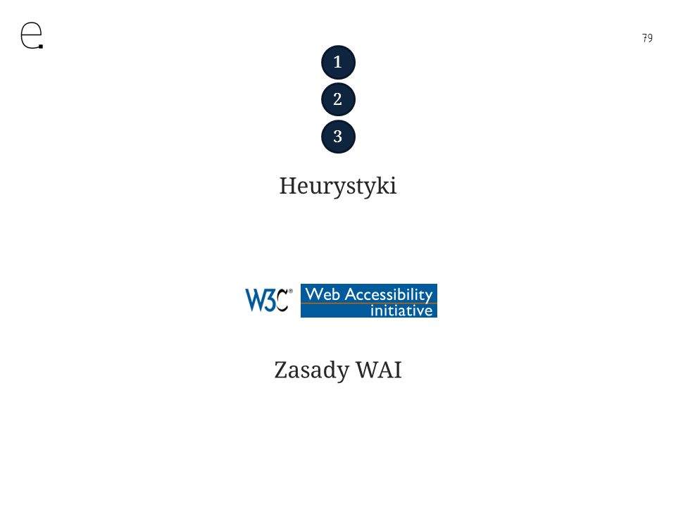 79 Heurystyki Zasady WAI 1 2 3